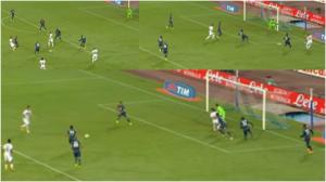 Secondo gol del Palermo in  Napoli - Palermo 3-3